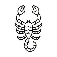 icône de style de ligne signe du zodiaque scorpion vecteur