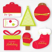 Pack de vecteur d'étiquettes de cadeau de vacances