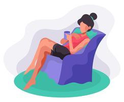 Illustration des réglages confortables vecteur