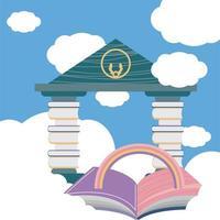 livre de bibliothèque de librairie vecteur