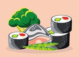 fruits de mer légumes nourriture vecteur