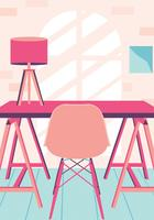 Cozy Settings Reading Space Design Vector