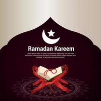 carte de voeux de célébration du ramadan kareem vecteur