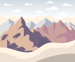 Paysage de montagne, première personne, illustration vecteur