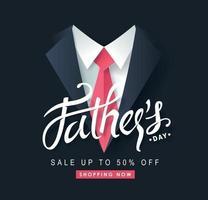 modèle de fond de bannière de vente bonne fête des pères vecteur