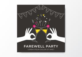 Invitation à la fête d'adieu vecteur