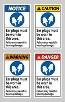 des bouchons d'oreille doivent être portés dans cette zone, une défaillance peut entraîner des dommages auditifs vecteur