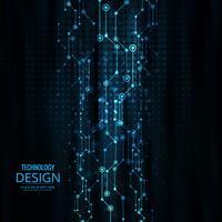 Illustration de conception abstraite technologie fond vecteur