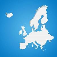 la carte politique détaillée du continent européen avec les frontières des pays vecteur