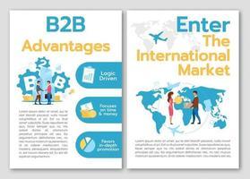 modèle de brochure avantages b2b vecteur