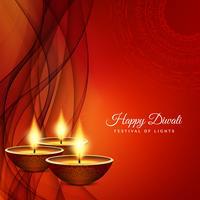 Abstrait joyeux festival de Diwali salutation