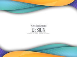 Abstrait coloré ondulé moderne