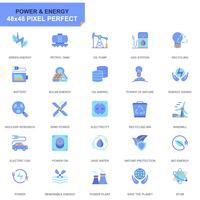 Ensemble d'icônes simples pour l'industrie de l'énergie et l'énergie vecteur