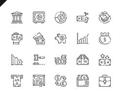 Simple Set Finance Line Icons pour site Web et applications mobiles.