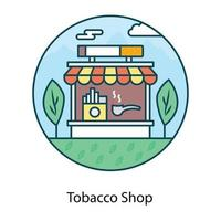 professionnel du tabac vecteur