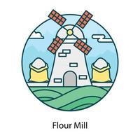 conception de moulin à farine vecteur