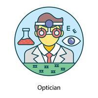 médecin professionnel opticien vecteur