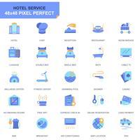 Simple Set Hotel Services Flat Icons pour sites Web et applications mobiles