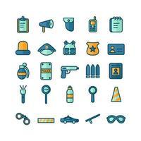 jeu d'icônes de police ligne plate vectorielle pour la présentation de l'application mobile du site Web médias sociaux adaptés à l'interface utilisateur et à l'expérience utilisateur vecteur