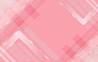 fond rose géométrique dégradé avec des reflets argentés vecteur
