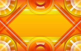 cadre de dégradé de cycle de cercle créatif rougeoyant jaune vecteur