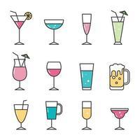 icône de boisson fraîche colorée vecteur