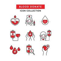 donnez votre sang pour ceux qui en avaient besoin vecteur