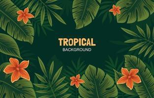 fond tropical de la jungle vecteur