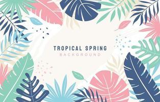 fond de printemps tropical vecteur