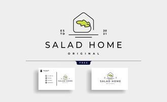 Salade faite maison logo design icône vector design illustration