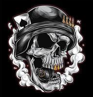 grenade de l'armée du crâne vecteur