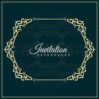 Design de fond abstrait invitation décorative vecteur
