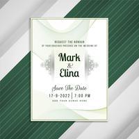 Conception de carte artistique invitation de mariage abstrait vecteur