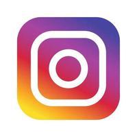 icône de médias sociaux logo instagram vecteur