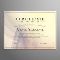 Certificat abstrait ondulé moderne
