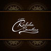 Résumé festival de conception de texte joyeux Raksha bandhan vecteur