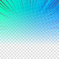 Dessin abstrait coloré sur fond transparent vecteur