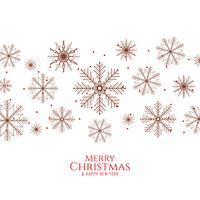 Abstrait joyeux Noël élégant avec des flocons de neige vecteur