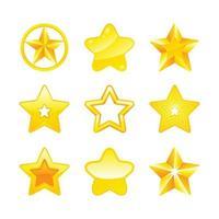 icône d'étoiles d'or diverses partie 2 vecteur