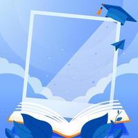 photomaton de remise des diplômes félicitations vecteur