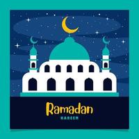 ramadan kareem et culture islamique vecteur