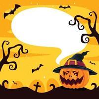 concept d'halloween avec un personnage drôle vecteur