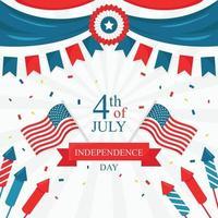 fond du festival du 4 juillet vecteur