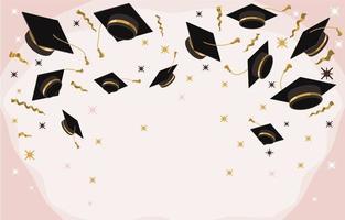 arrière-plan créatif avec des accessoires de photomaton pour l'obtention du diplôme vecteur