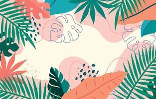 fond floral d'été coloré décoratif vecteur
