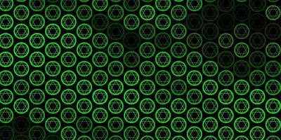 texture vecteur jaune vert foncé avec symboles religieux