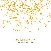 Abstrait confetti doré vecteur