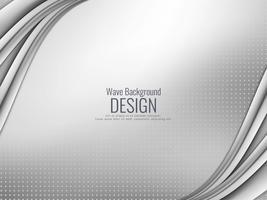 Abstrait gris ondulé élégant vecteur