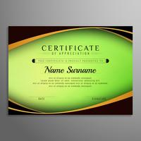 Certificat abstrait certificat ondulé