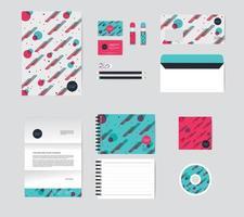 le modèle d'identité d'entreprise pour votre entreprise comprend une enveloppe de dossier de carte de visite de couverture de cd et des conceptions d'en-tête vecteur